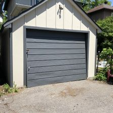 garage after beautiful paint