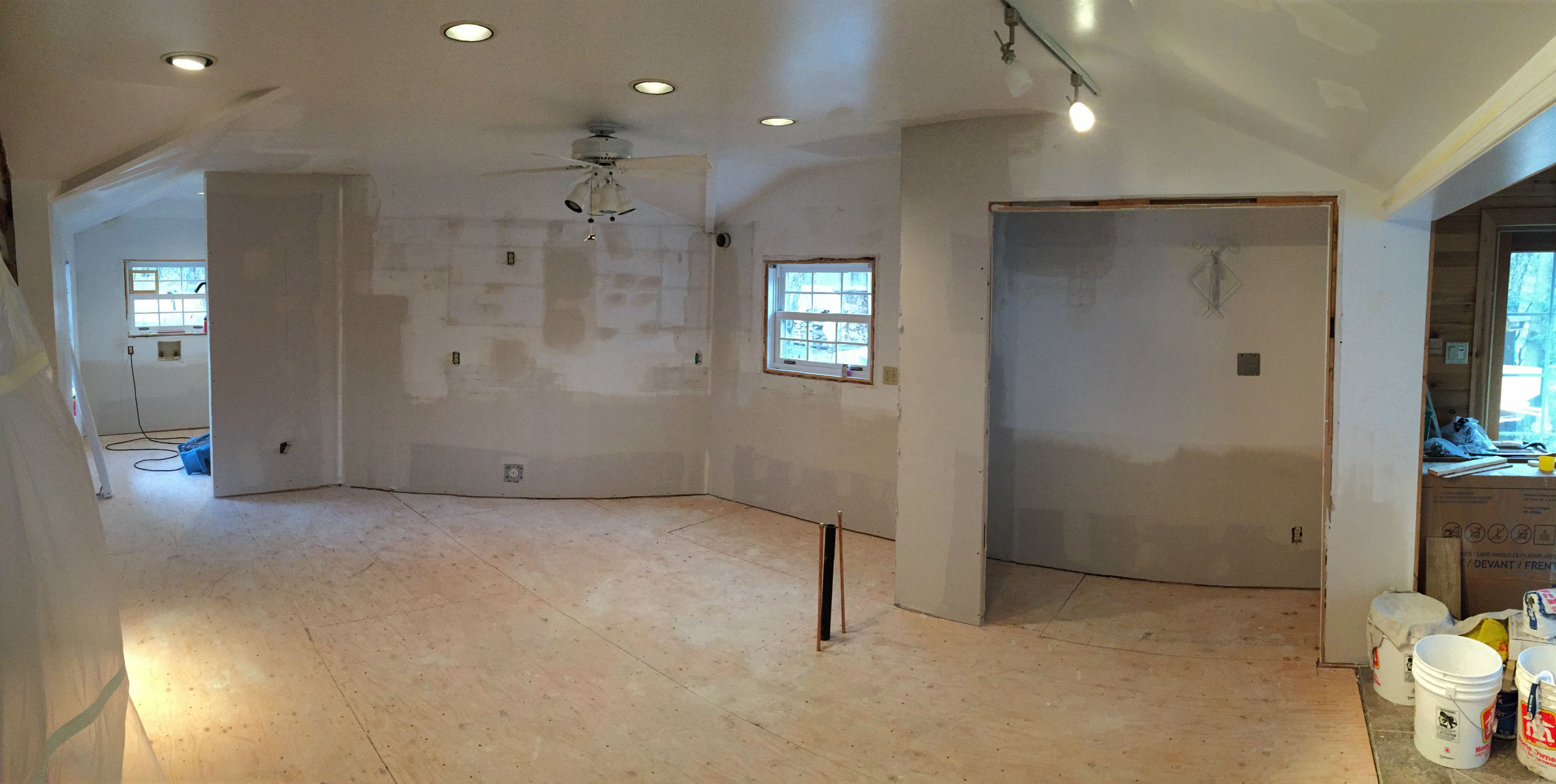 Room during painting job